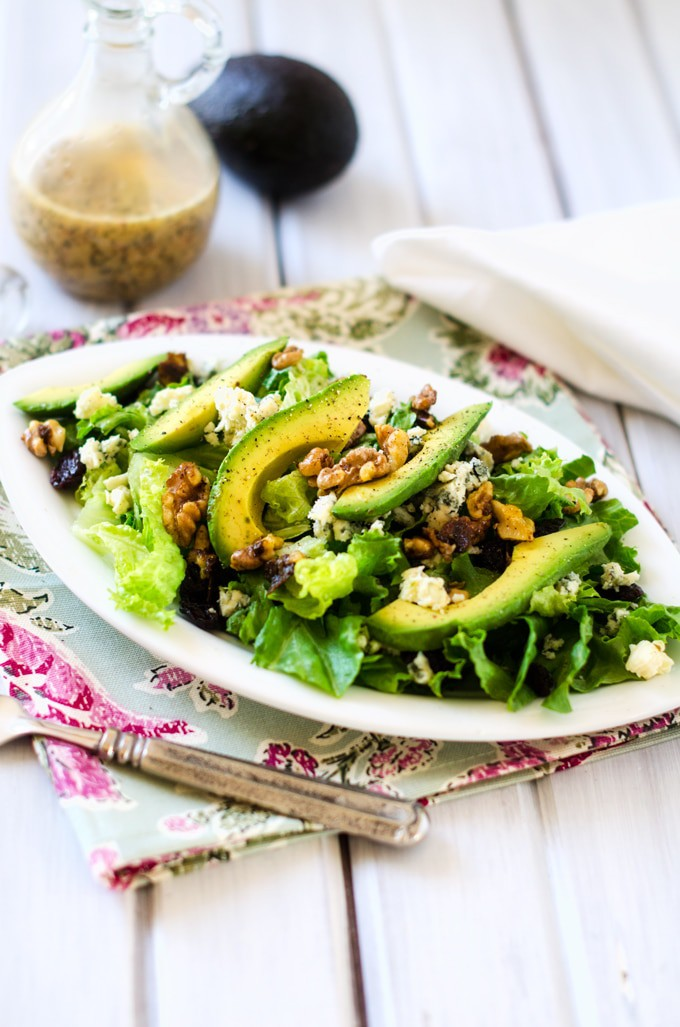 Cranberry Avocado Blue Cheese Salad