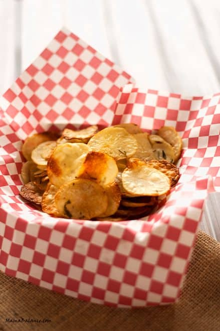 Oven Bakes Rosemary Potato Chips - All of the taste minus the guilt!