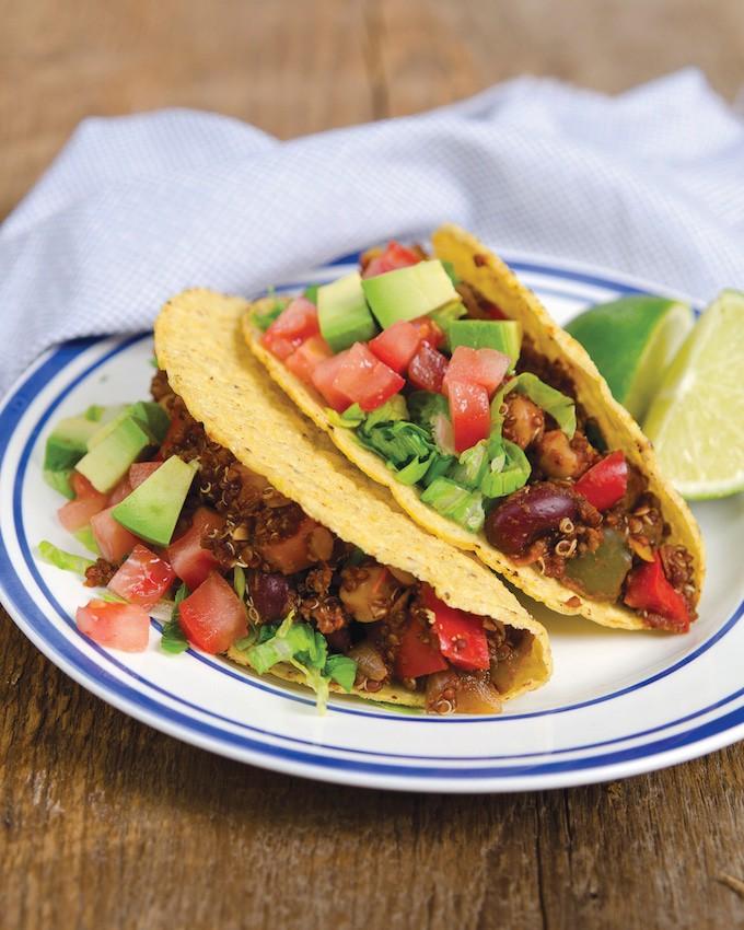 Ta-Quinos (Quinoa Tacos) - from Dreena Burton's Plant Powered Family - WendyPolisi.com