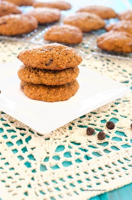 Quinoa Flax Chocolate Chip Cookies