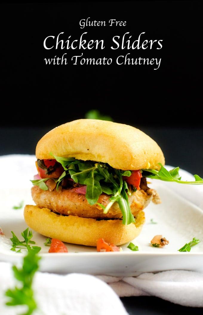 Gluten Free Chicken Sliders with Tomato Chutney