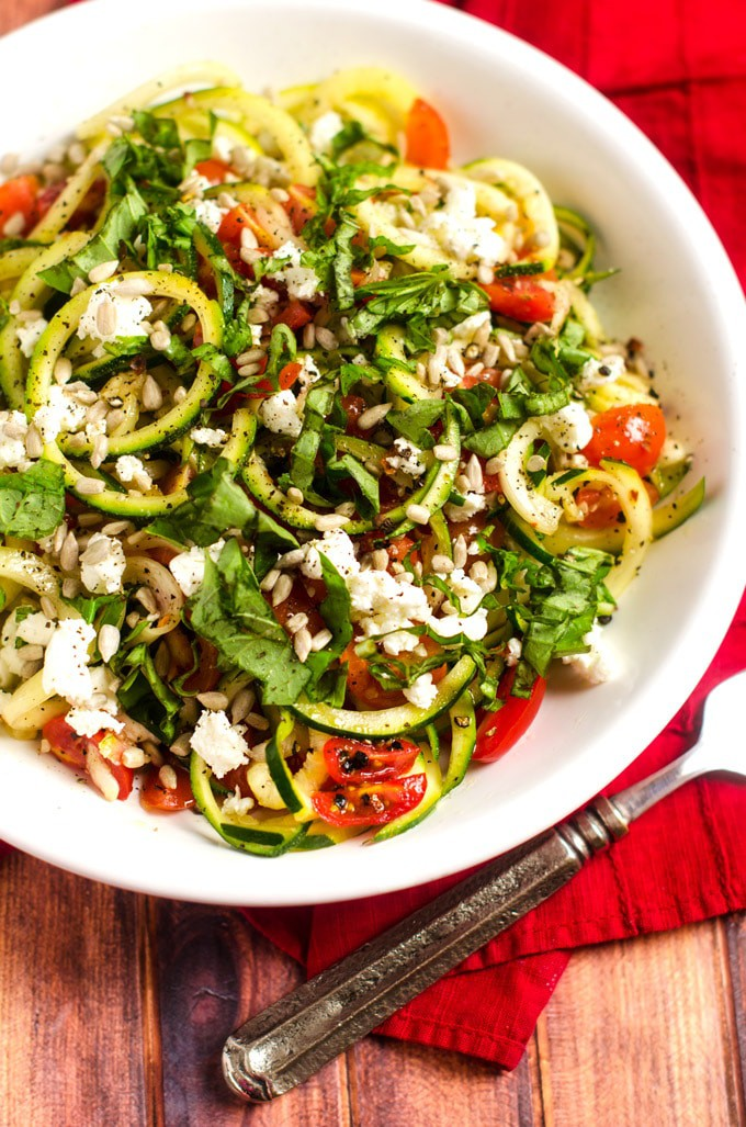 Shaved Zucchini Casserole with Tomatoes & Goat Cheese