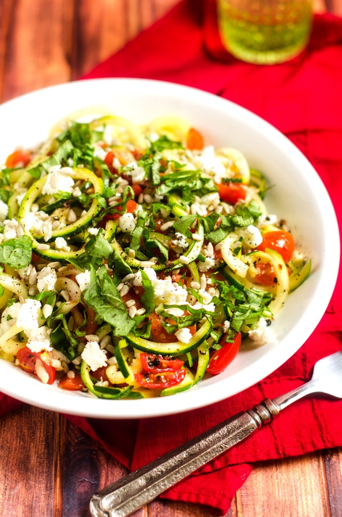 Shaved Zucchini Salad with Tomatoes and Goat CheeseWendy Polisi