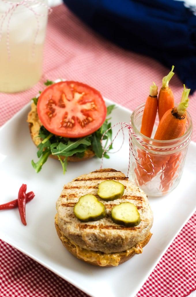 Quinoa Turkey Burgers with Sun Dried Tomato Aioli width=