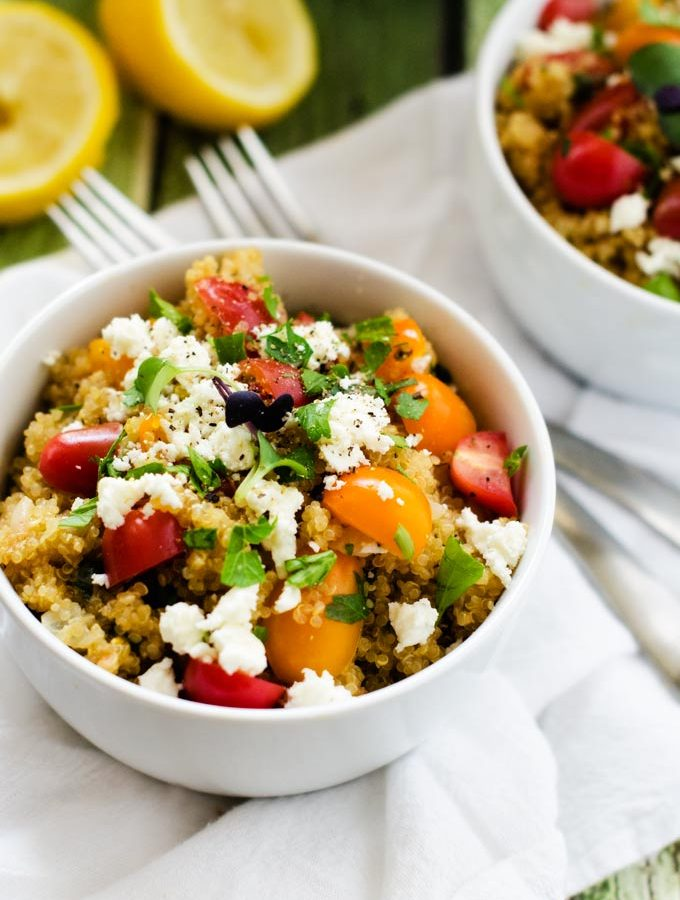 Surprisingly Delicious Tomato Quinoa Pilaf