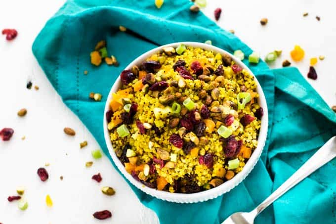 Horizontal image of Jeweled Quinoa Salad