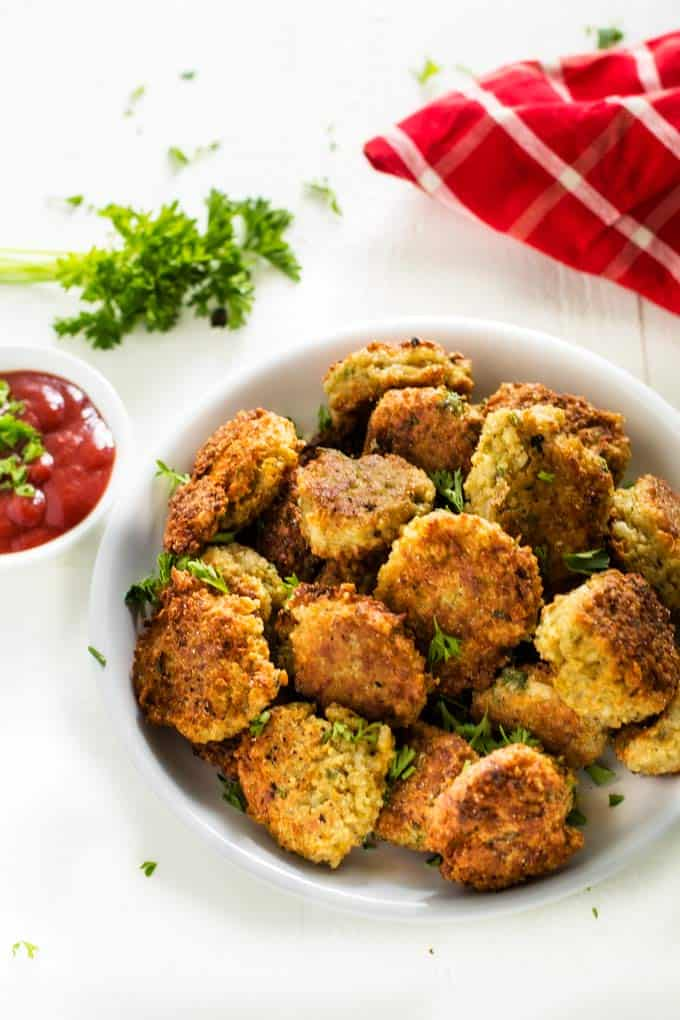 Plate of kid-friendly quinoa fritters