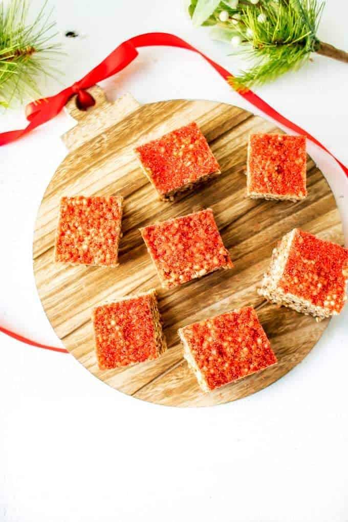 Overhead photo of Quinoa Crispy Treats