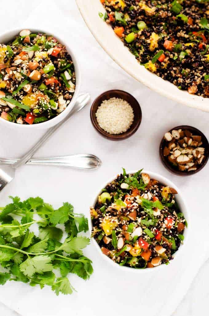 Thai Black Rice Quinoa Salad - Wendy Polisi