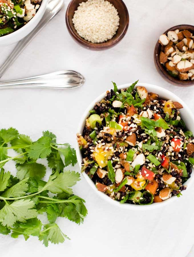 Thai Black Rice Quinoa Salad