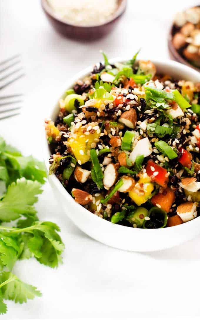 Thai Black Rice Quinoa Salad