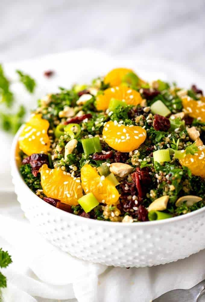 Side shot of Asian Quinoa Salad