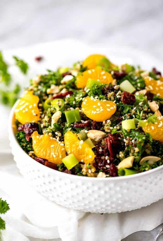 Side shot of Asian Quinoa Salad