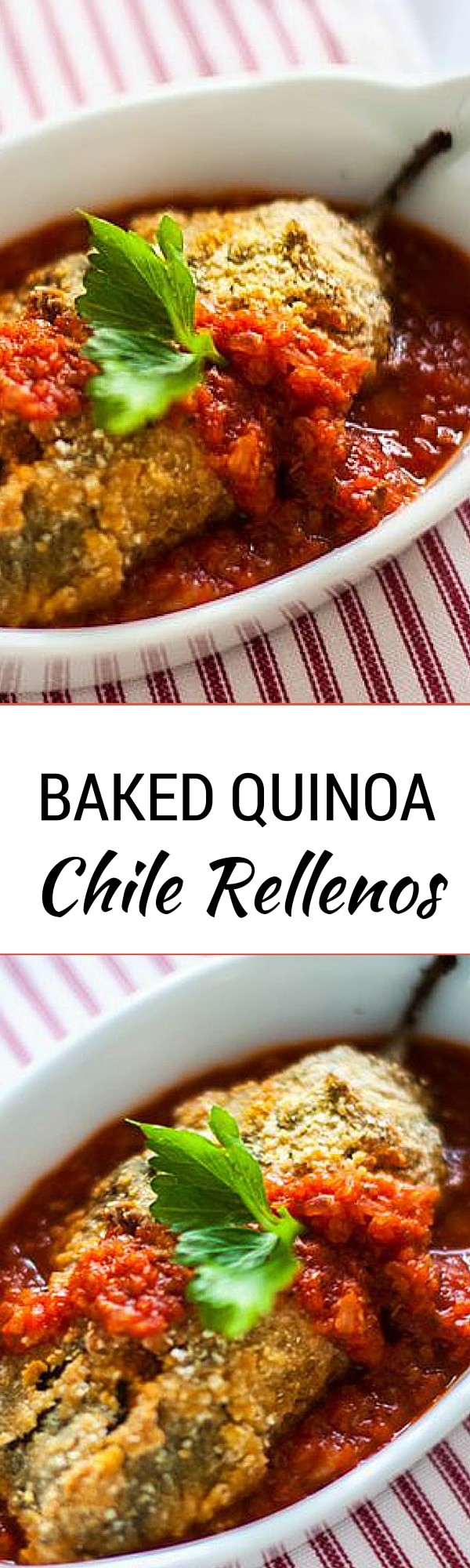 Baked Quinoa Chile Rellenos - It is hard to believe these Baked Quinoa Chile Rellenos are both gluten free and can easily be made vegan. (I did!) A healthier alternative to a classic. - WendyPolisi.com