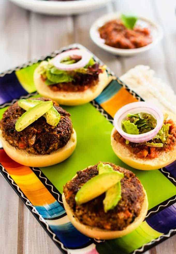 Mexican Quinoa Burgers