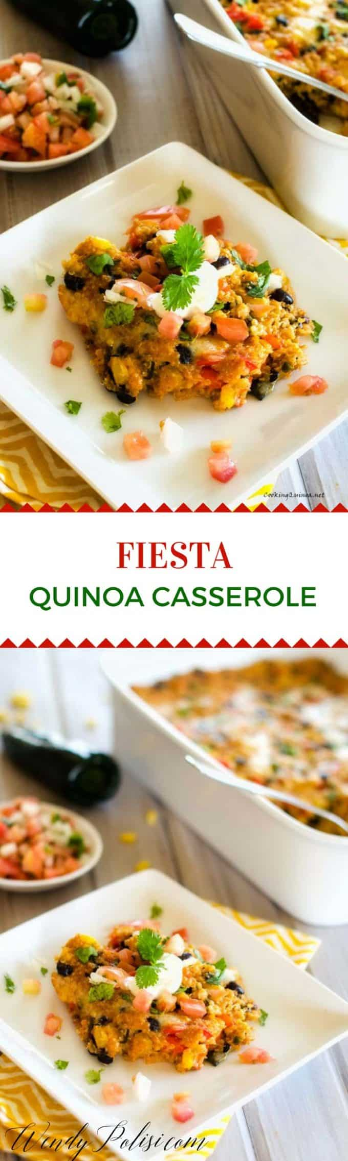 This Fiesta Quinoa Casserole is a family favorite that will have your pickiest of eaters asking for seconds. A great kid-friendly quinoa recipe that is a perfect introduction to quinoa for kids!