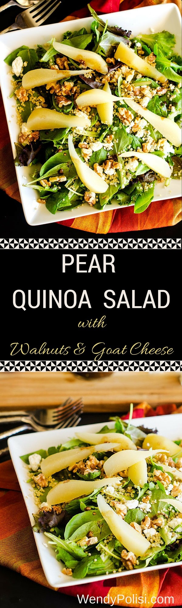 Pear Quinoa Salad with Walnuts and Goat Cheese