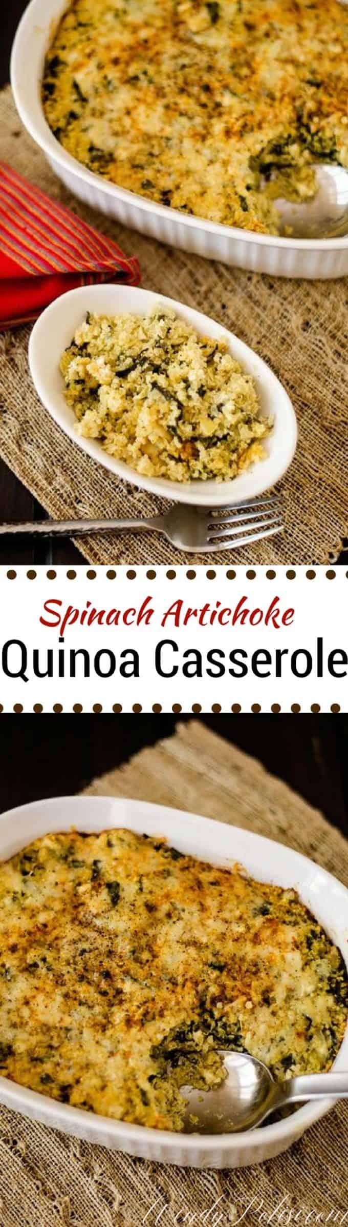 Spinach Artichoke Quinoa Casserole