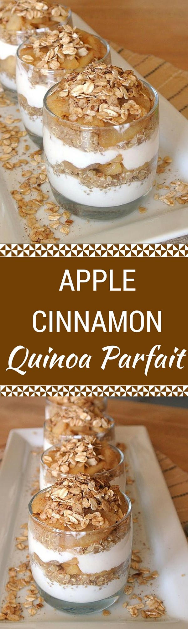 Apple Cinnamon Quinoa Parfait
