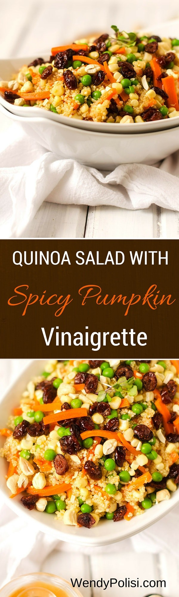 Quinoa Salad with Spicy Pumpkin Vinaigrette