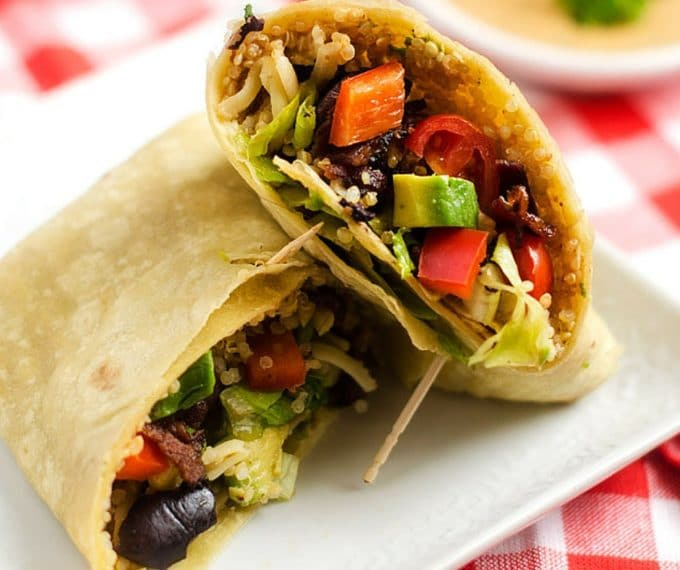 Quinoa Bacon Club Wrap