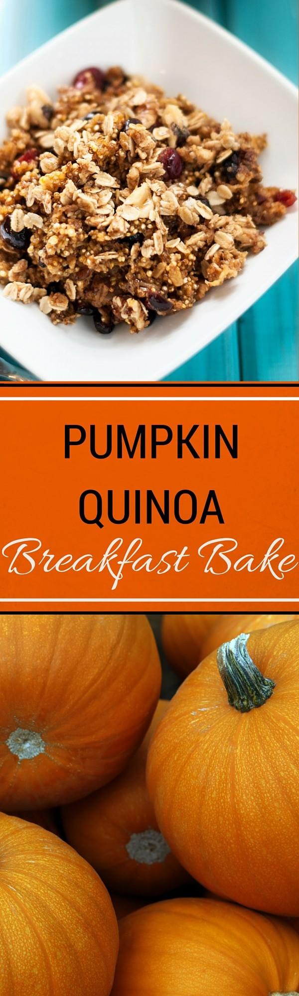 Pumpkin Quinoa Breakfast Bake