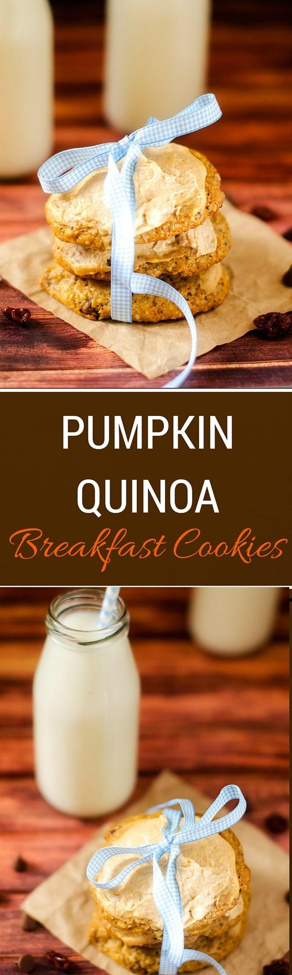 Pumpkin Quinoa Breakfast Cookies