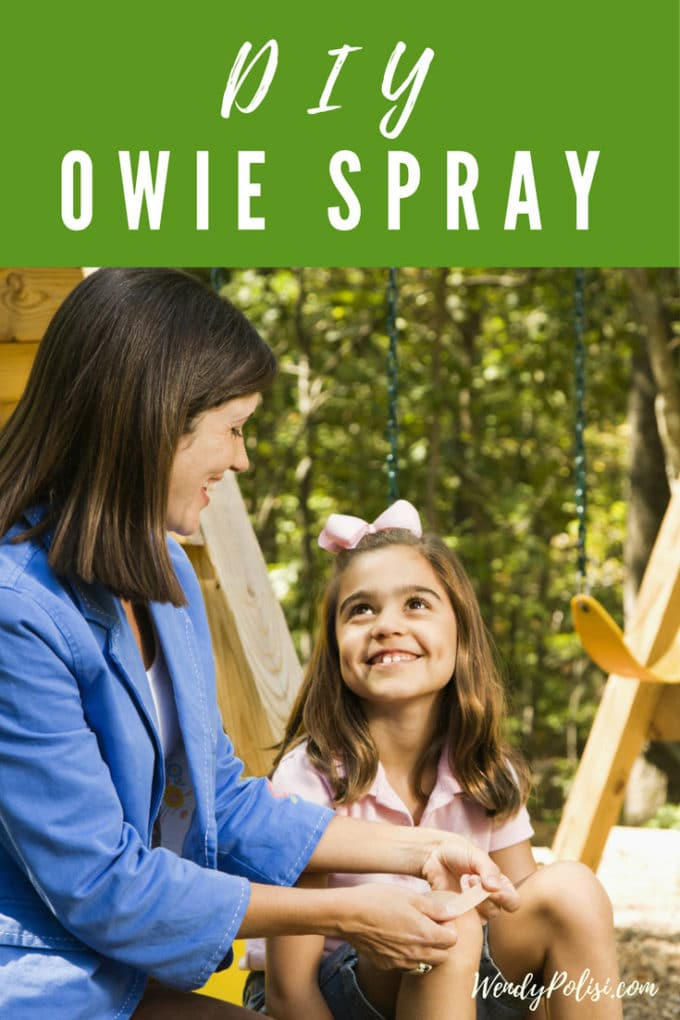 This is the Best Kid Tested DIY Owie Spray I've found! With this owie blend recipe, your little one will be on the mend in no time!