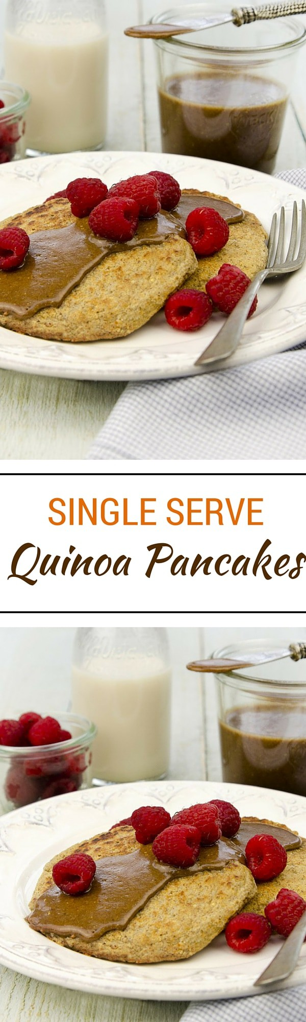 Single Serve Quinoa Pancakes - From Living Candida-Free by @rickiheller. Reprinted with permission from Da Capo Lifelong, © 2015. Photograph by Nicole Axworthy.