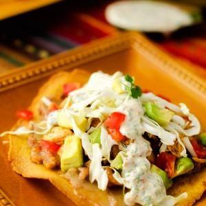chicken-bean-tostadas