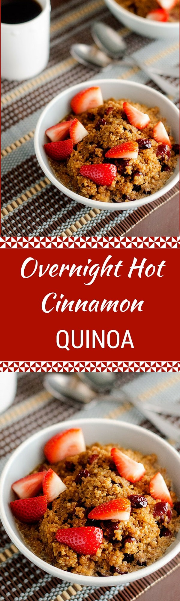 Overnight Hot Cinnamon Quinoa This Easy To Make Healthy Breakfast Solution  Is The Perfect Way Overnight