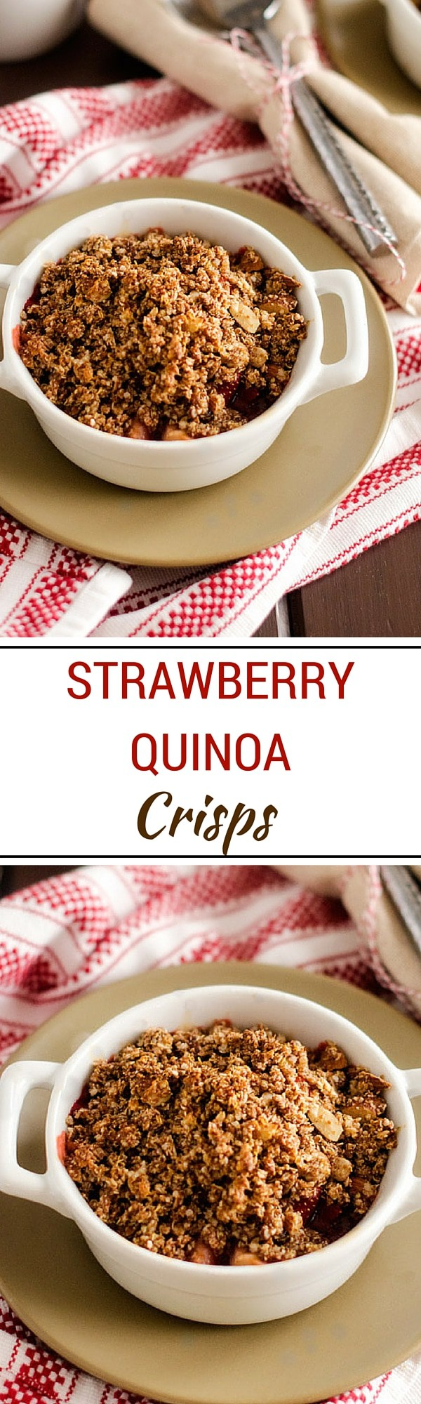 Strawberry Quinoa Crisps - This gluten free and vegan dessert tastes like total indulgence but is packed with nutrition- WendyPolisi.com