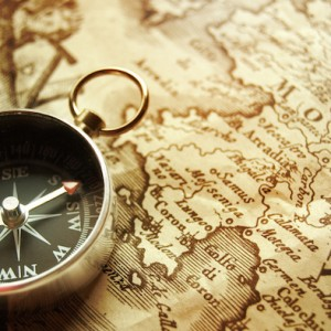 compass-on-an-old-map