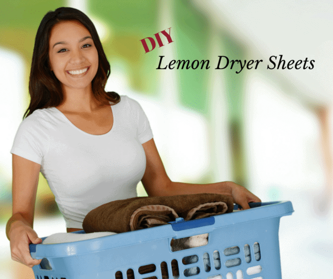 DIY Lemon Dryer Sheets