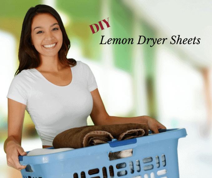 DIY Lemon Dryer Sheets