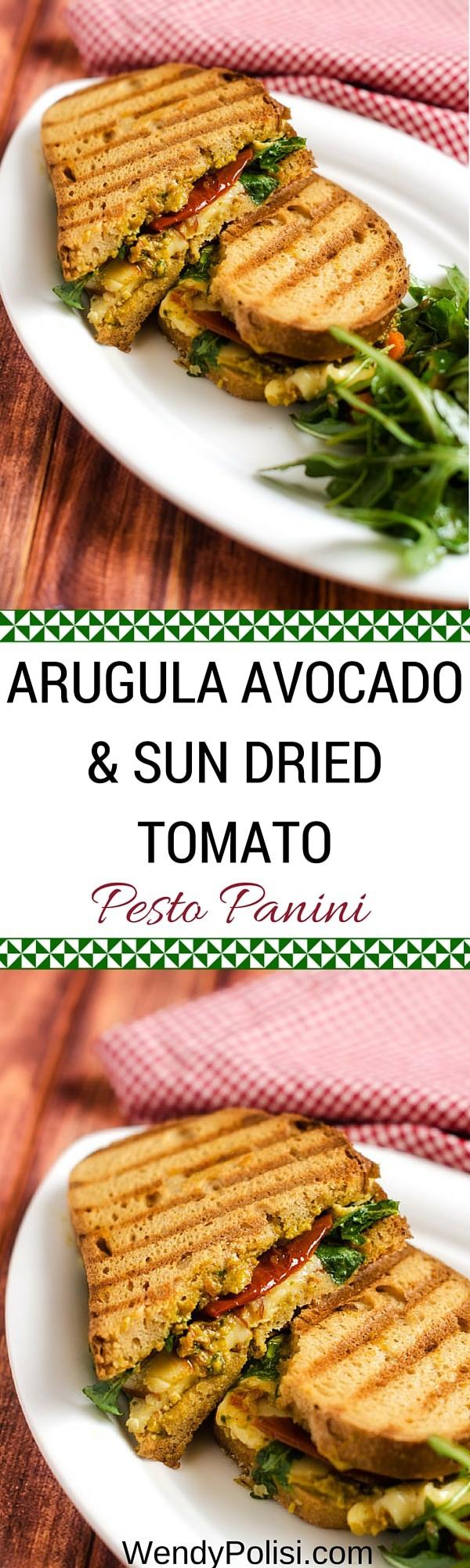 Arugula Avocado & Sun Dried Tomato Pesto Panini - Gluten Free