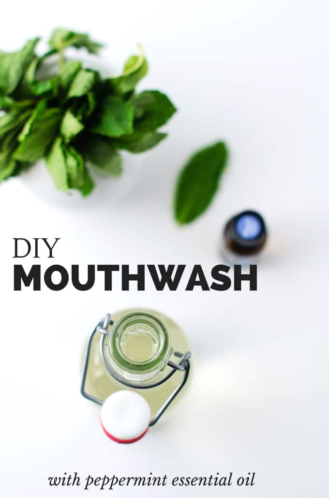 DIY Minty Mouthwash