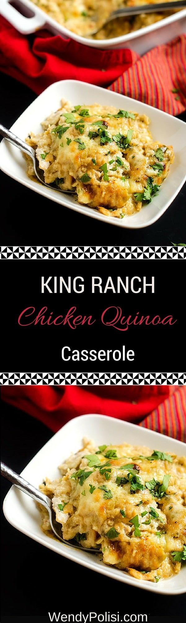 King Ranch Chicken Quinoa Casserole - This make ahead casserole recipe is easy and delicious! - WendyPolisi.com