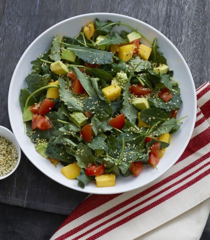 Massaged Kale Salad from Super Seeds - WendyPolisi.com