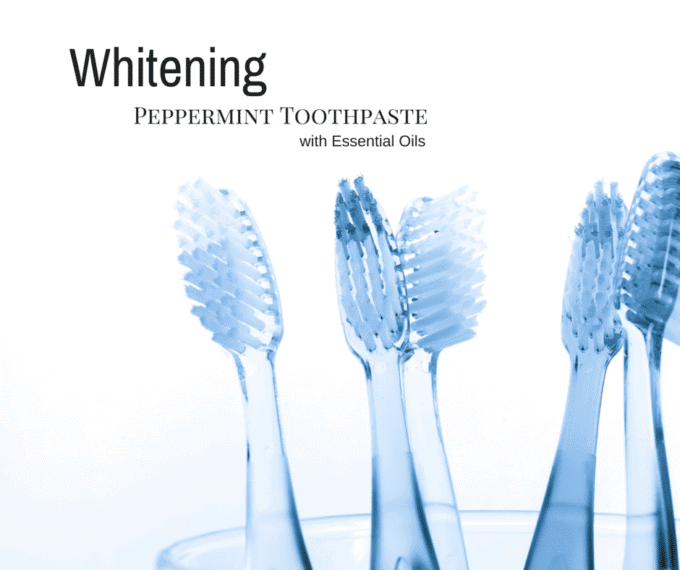 DIY Whitening Peppermint Toothpaste