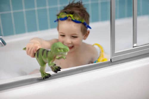 Bath Time with Skye & The Sterling Prevail: Your Shower Door Solution