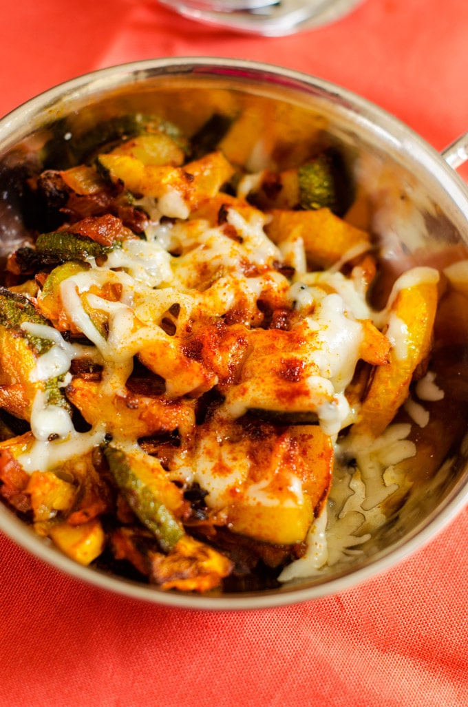 Roasted Summer Squash with Smoked Paprika and Manchego Cheese - WendyPolisi.com