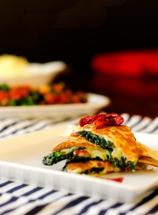 spinach-gruyere-quesadillas