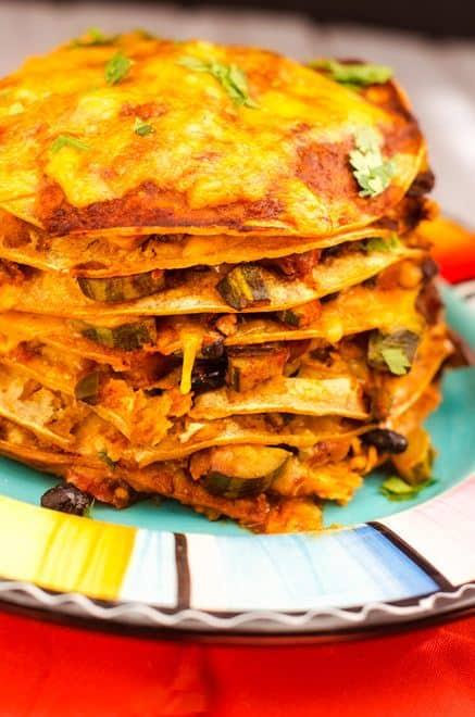 Veggie Tortilla Casserole (Vegetarian, Gluten Free) - WendyPolisi.com