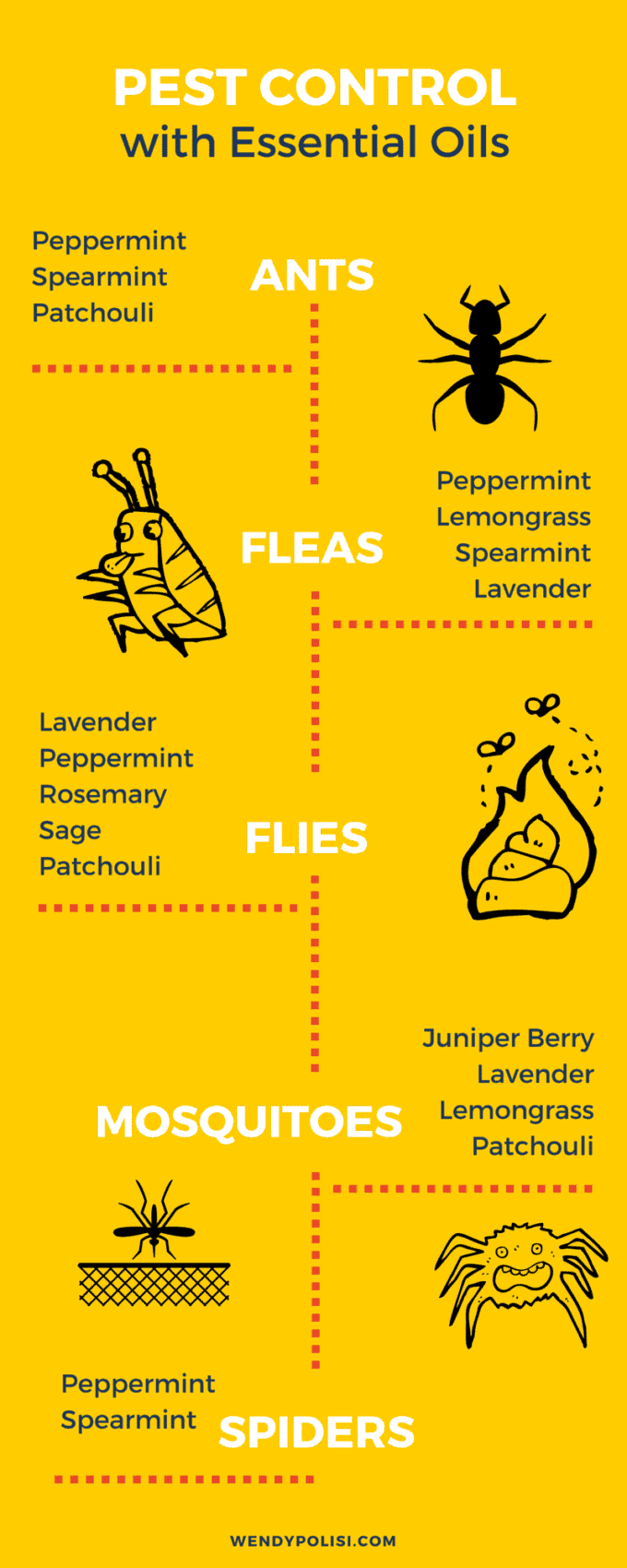 Natural Pest Control with Essential Oils - Just say no to toxic chemicals! Essential Oils offer a great way to naturally combat pests! Here is what you need to know! - WendyPolisi.com