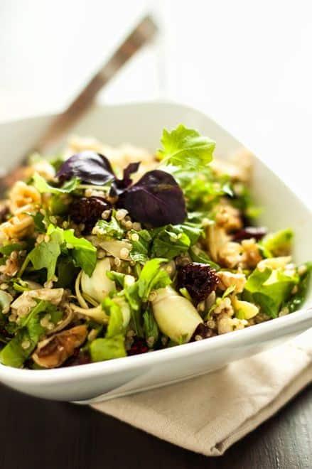Artichoke Arugula & Quinoa Salad - WendyPolisi.com