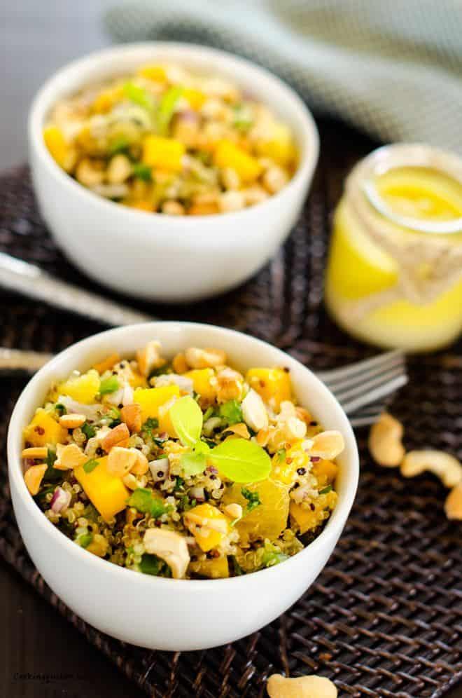 Cashew, Orange & Mango Quinoa Salad - Gluten Free & Vegan - WendyPolisi.com