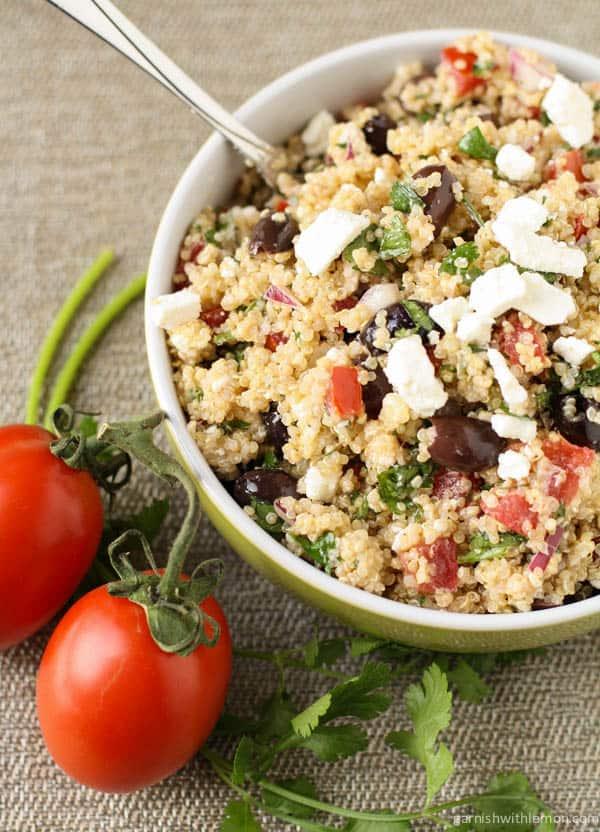 Mediterranean Quinoa Salad - WendyPolisi.com