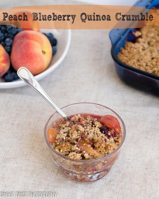 Peach Quinoa Crumble - WendyPolisi.com