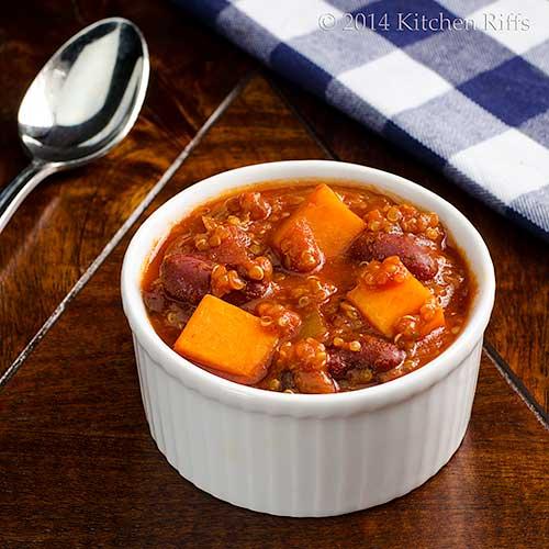 Quinoa & Sweet Potato Chili
